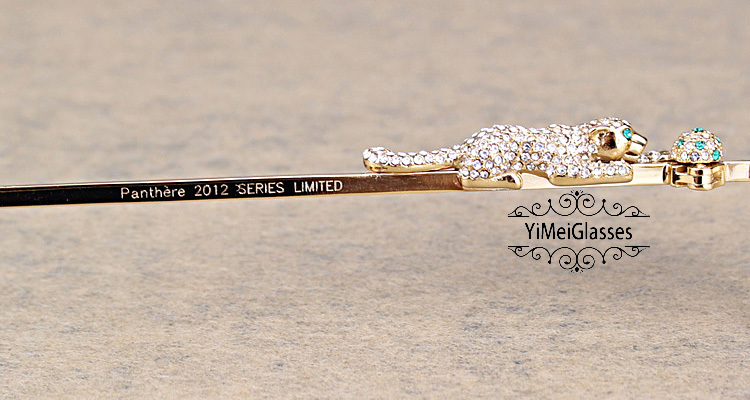 Cartier PANTHÈRE Diamond Metal Rimless EyeGlasses CT6384083插图5