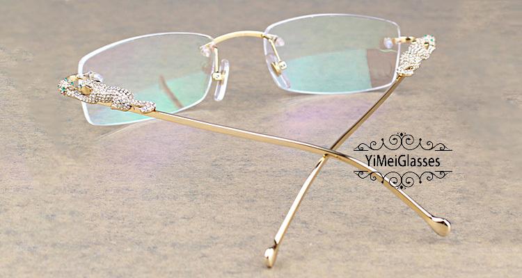 Cartier PANTHÈRE Diamond Metal Rimless EyeGlasses CT6384083插图6