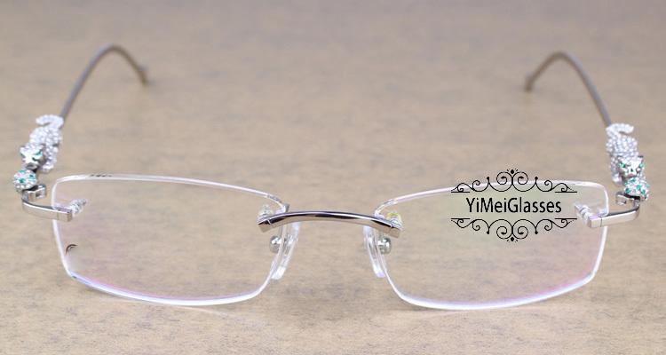 Cartier PANTHÈRE Diamond Metal Rimless EyeGlasses CT6384083插图7
