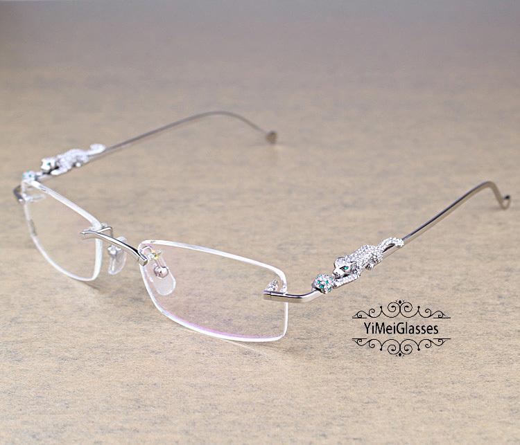 Cartier PANTHÈRE Diamond Metal Rimless EyeGlasses CT6384083插图8