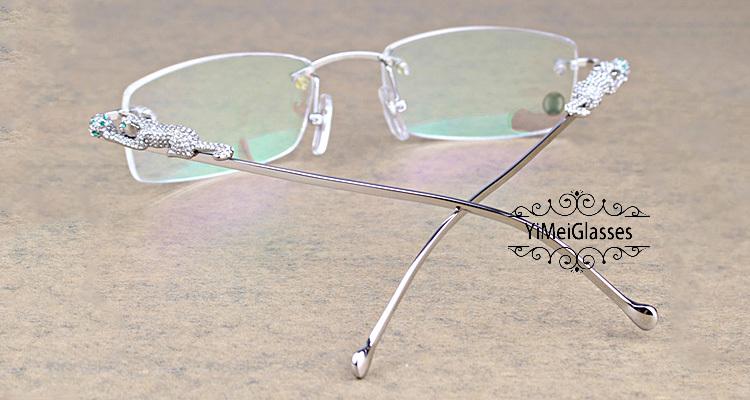 Cartier PANTHÈRE Diamond Metal Rimless EyeGlasses CT6384083插图12