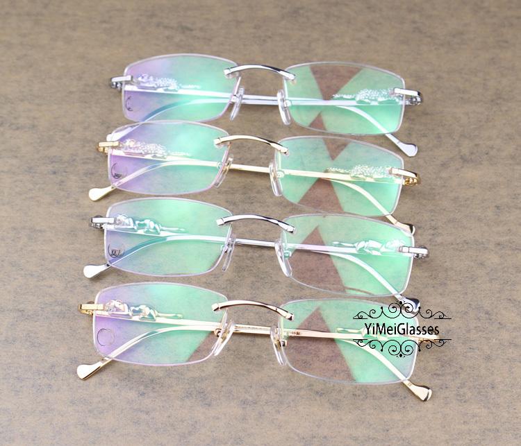 Cartier PANTHÈRE Diamond Metal Rimless EyeGlasses CT6384083插图