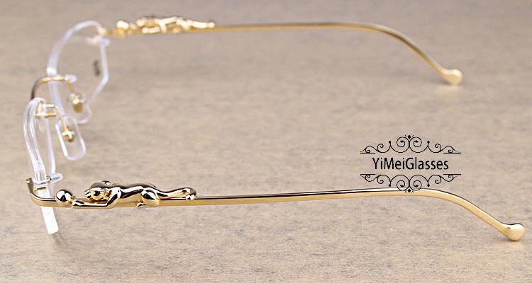 Cartier PANTHÈRE Diamond Metal Rimless EyeGlasses CT6384083插图15