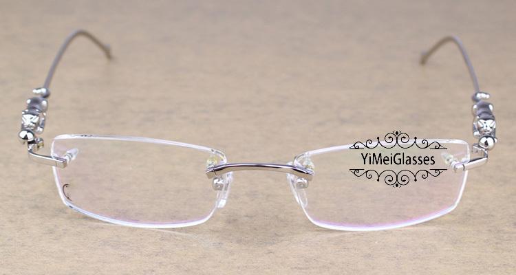 Cartier PANTHÈRE Diamond Metal Rimless EyeGlasses CT6384083插图20