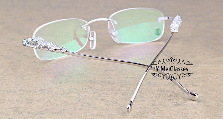 Cartier PANTHÈRE Metal Diamond Classic Rimless EyeGlasses CT6384086插图11