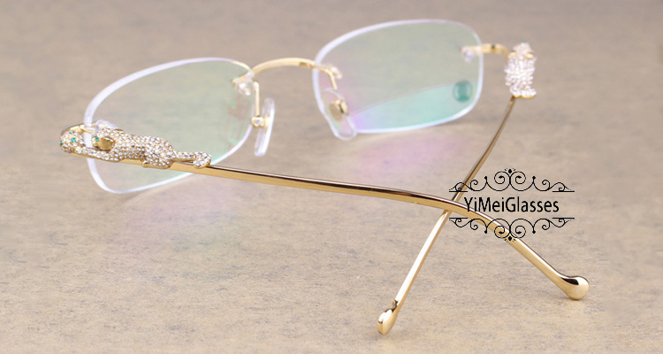Cartier PANTHÈRE Metal Diamond Classic Rimless EyeGlasses CT6384086插图4