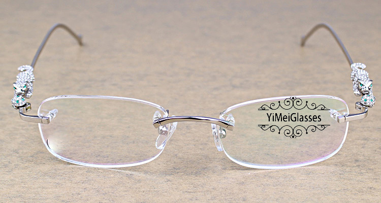 Cartier PANTHÈRE Metal Diamond Classic Rimless EyeGlasses CT6384086插图6