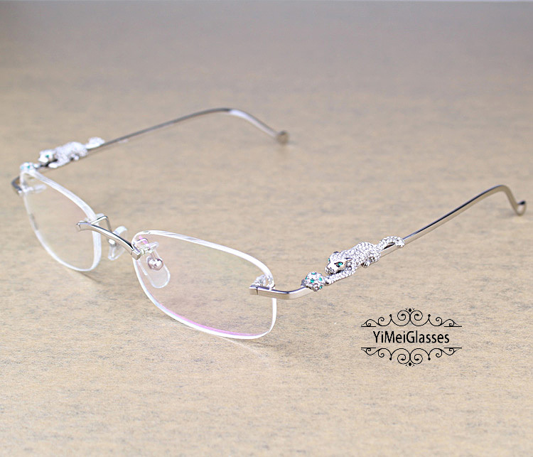 Cartier PANTHÈRE Metal Diamond Classic Rimless EyeGlasses CT6384086插图7