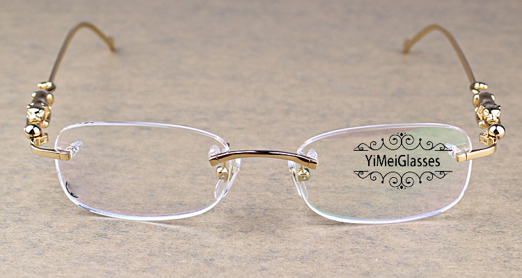 Cartier PANTHÈRE Metal Classic Rimless EyeGlasses CT6384086插图