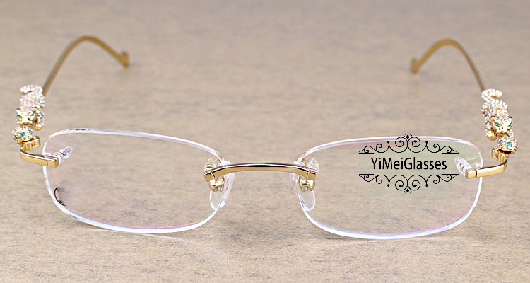 Cartier PANTHÈRE Metal Classic Rimless EyeGlasses CT6384086插图(15)