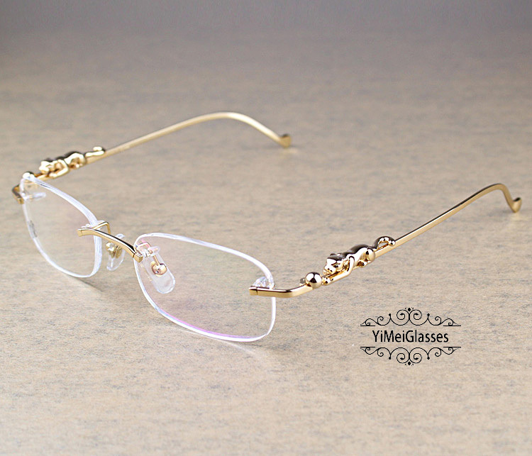 Cartier PANTHÈRE Metal Classic Rimless EyeGlasses CT6384086插图(1)