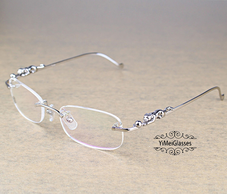 Cartier PANTHÈRE Metal Classic Rimless EyeGlasses CT6384086插图(8)