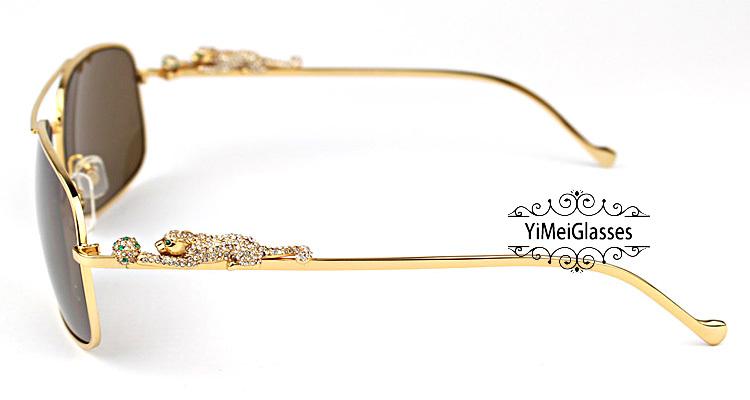 Cartier PANTHÈRE Diamond Aviators Full Frame SunGlasses CT6384088插图(3)