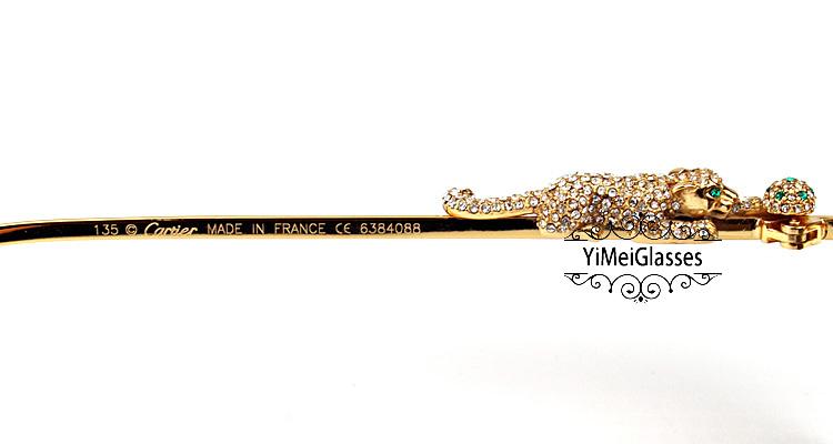 Cartier PANTHÈRE Diamond Aviators Full Frame SunGlasses CT6384088插图(5)