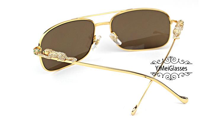 Cartier PANTHÈRE Diamond Aviators Full Frame SunGlasses CT6384088插图(6)