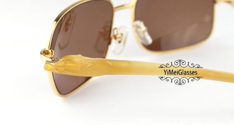 Cartier PANTHÈRE Horn Aviators Full Frame Sunglasses CT6384092插图(10)