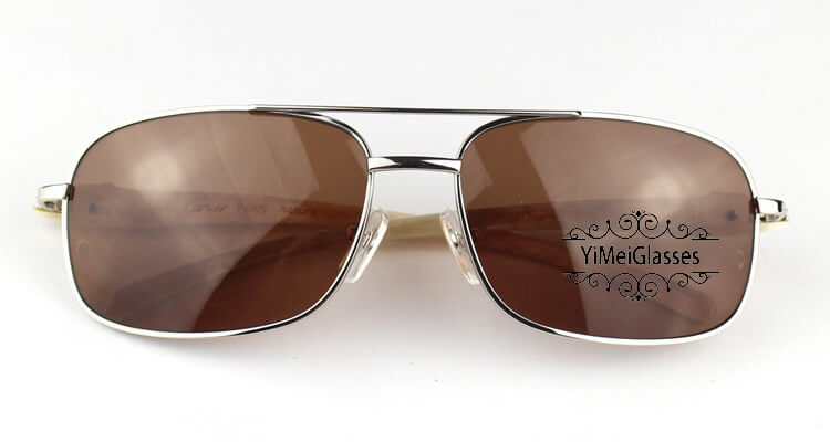 Cartier PANTHÈRE Horn Aviators Full Frame Sunglasses CT6384092插图(11)