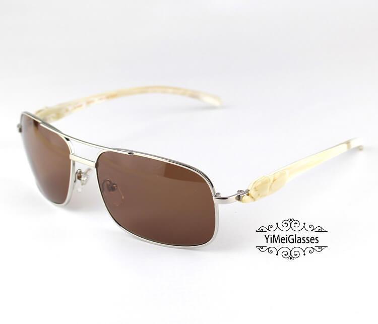 Cartier PANTHÈRE Horn Aviators Full Frame Sunglasses CT6384092插图(12)