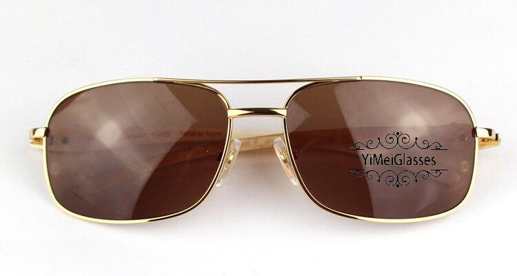 Cartier PANTHÈRE Horn Aviators Full Frame Sunglasses CT6384092插图(1)