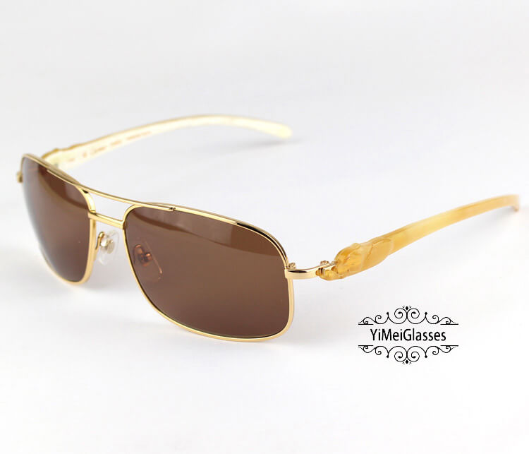 Cartier PANTHÈRE Horn Aviators Full Frame Sunglasses CT6384092插图(3)