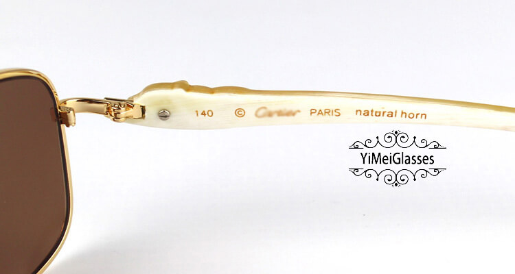 Cartier PANTHÈRE Horn Aviators Full Frame Sunglasses CT6384092插图(5)