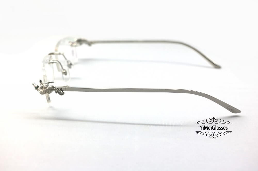 Cartier Crocodile Decor Diamond Rimless EyeGlasses CT6438289插图(8)
