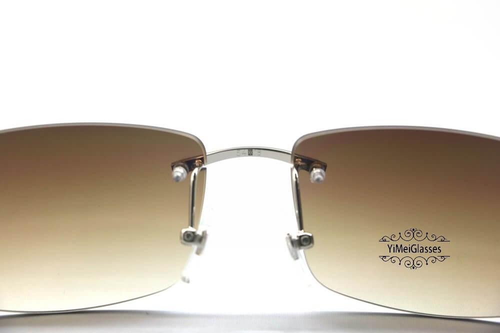Cartier Crocodile Decor Diamond Rimless Sunglasses CT6438289插图(11)