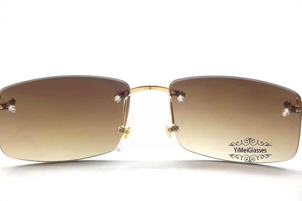 Cartier Crocodile Decor Diamond Rimless Sunglasses CT6438289插图(5)