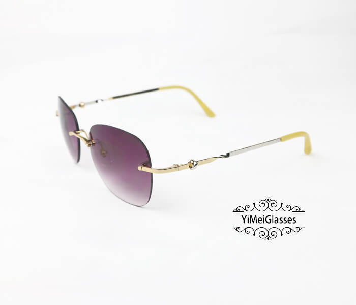 Cartier Two-color plating Metal Rimless Sunglasses CT6725338插图9