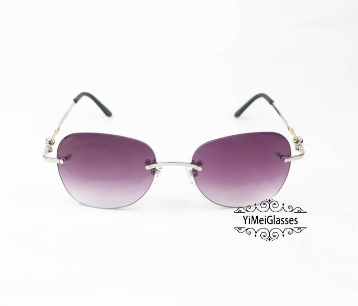Cartier Two-color plating Metal Rimless Sunglasses CT6725338插图10