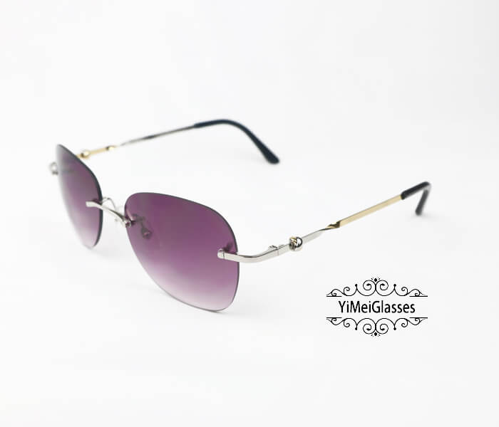 Cartier Two-color plating Metal Rimless Sunglasses CT6725338插图11