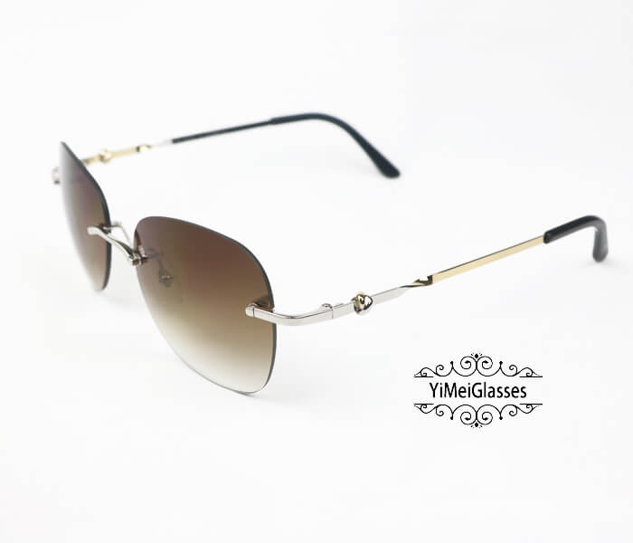 Cartier Two-color plating Metal Rimless Sunglasses CT6725338插图3