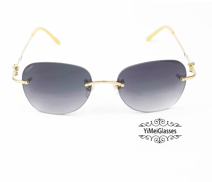 Cartier Two-color plating Metal Rimless Sunglasses CT6725338插图4