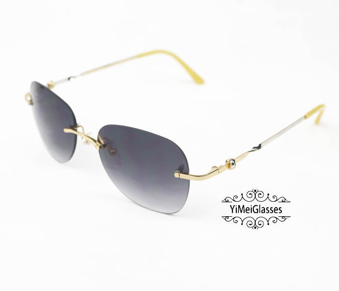 Cartier Two-color plating Metal Rimless Sunglasses CT6725338插图5