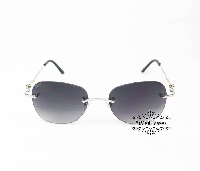 Cartier Two-color plating Metal Rimless Sunglasses CT6725338插图6
