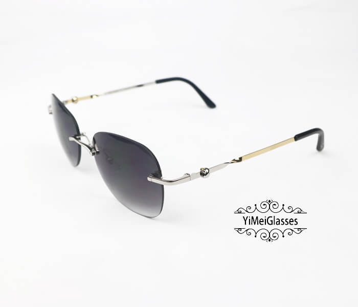 Cartier Two-color plating Metal Rimless Sunglasses CT6725338插图7