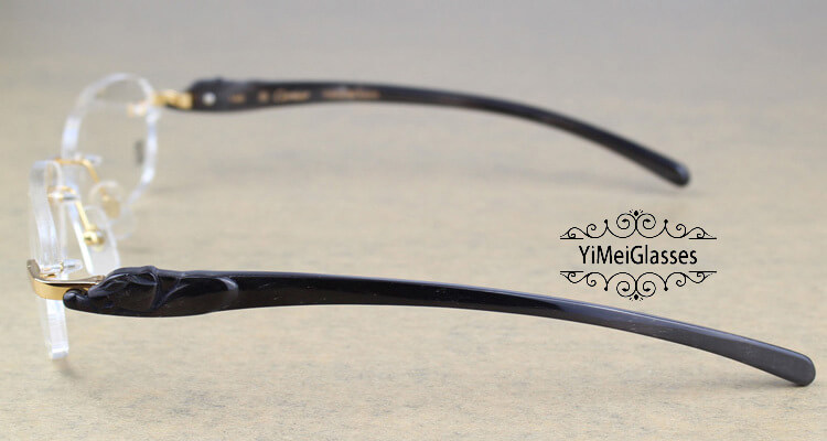 Cartier PANTHÈRE Rimless Buffalo Horn EyeGlasses CT6738033插图(26)