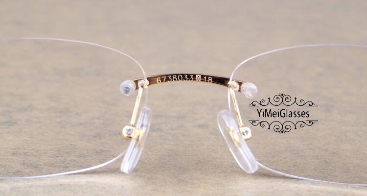 Cartier PANTHÈRE Rimless Buffalo Horn EyeGlasses CT6738033插图(6)