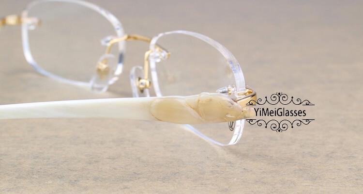 Cartier PANTHÈRE Rimless Buffalo Horn EyeGlasses CT6738033插图(8)
