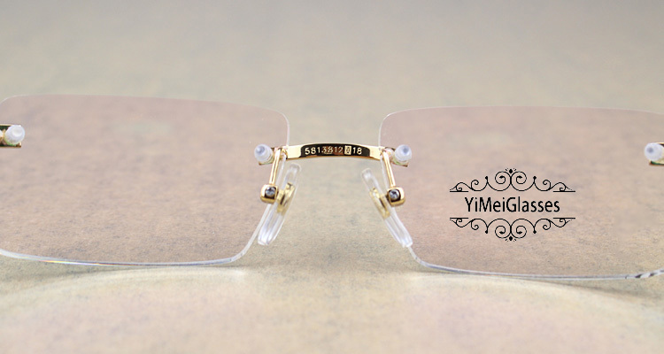Cartier Metal Classic Unisex Rimless Eyeglasses CT5813812插图10