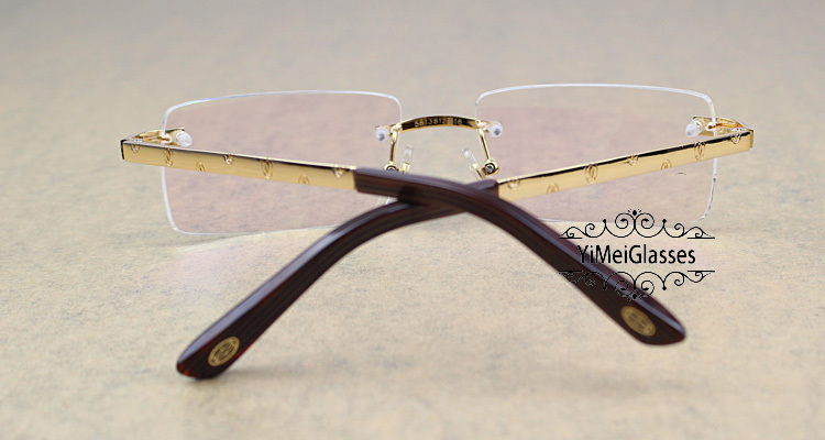 Cartier Metal Classic Unisex Rimless Eyeglasses CT5813812插图12