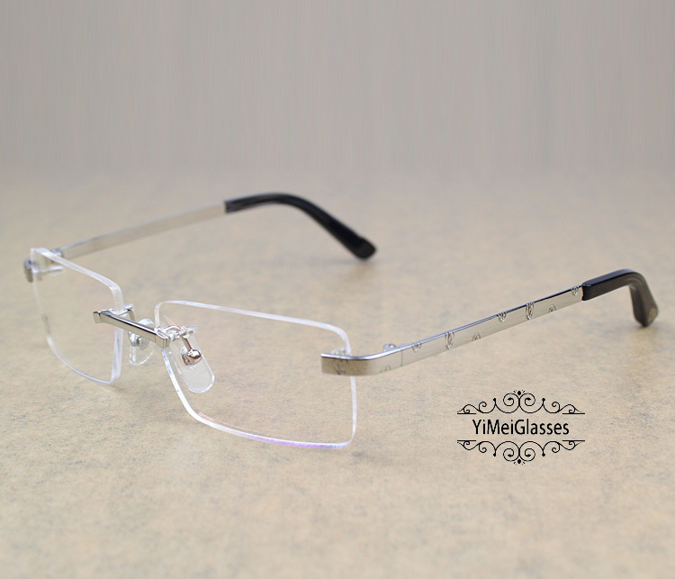 Cartier Metal Classic Unisex Rimless Eyeglasses CT5813812插图1