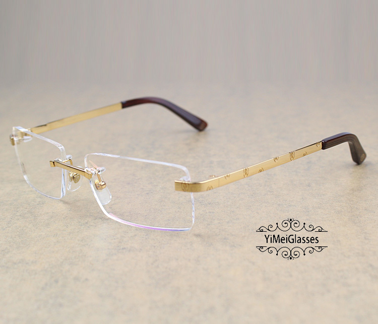 Cartier Metal Classic Unisex Rimless Eyeglasses CT5813812插图7