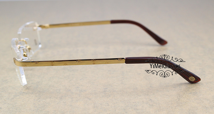 Cartier Metal Classic Unisex Rimless Eyeglasses CT5813812插图8
