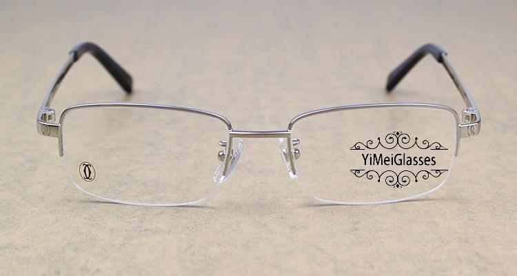 Cartier Metal Classic Unisex Half Frame Eyeglasses CT5813913插图