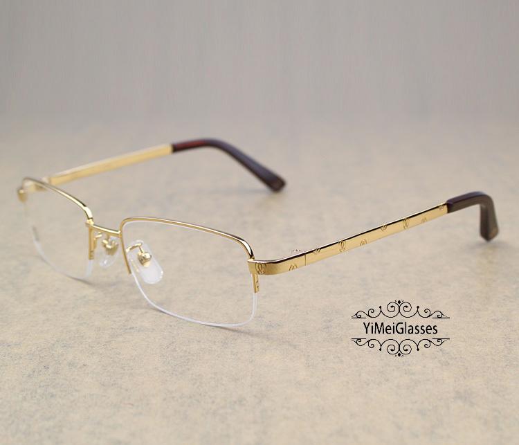 Cartier Metal Classic Unisex Half Frame Eyeglasses CT5813913插图9