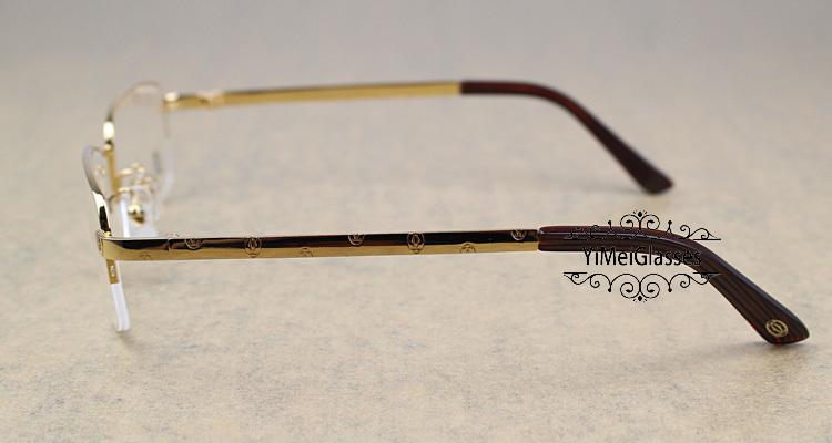 Cartier Metal Classic Unisex Half Frame Eyeglasses CT5813913插图10