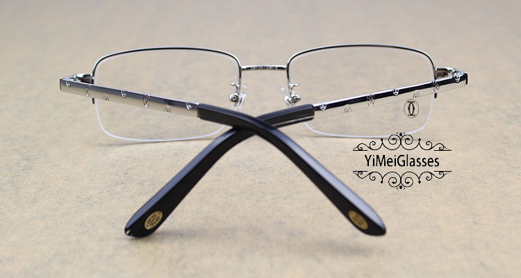 Cartier Metal Classic Unisex Half Frame Eyeglasses CT5813913插图6