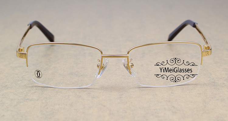 Cartier Metal Classic Unisex Half Frame Eyeglasses CT5813913插图8