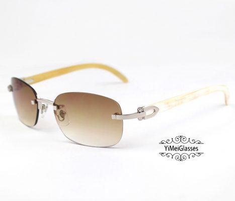 CT3524015-Cartier-Classic-18K-GOLD-Plated-Buffalo-Horn-Rimless-Sunglasses-2-467x400.jpg